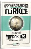 2020 KPSS'nin Pusulası Türkçe Çek Kopart Yaprak Test