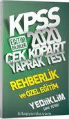 2020 KPSS Eğitim Bilimleri Rehberlik ve Özel Eğitim Çek Kopart Yaprak Test