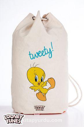 Looney Tunes - Tweety Spor Bez Çanta - (BK-LT034) Lisanslı Ürün   (Sport Bag) Lisanslı Ürün