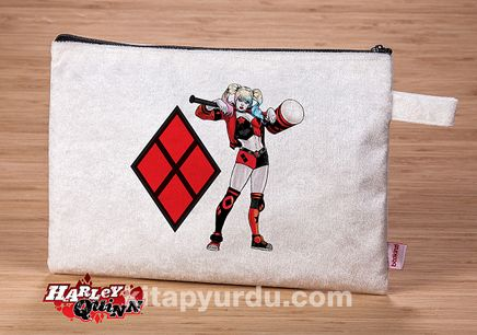 Harley Quinn - Sledge - Pırıltılı El Çantası (BK-HQ047) Lisanslı Ürün