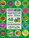 Yapıştır ve Boya Öğren - Çiftlik - Yeşil Kitap 3 Yaş Üzeri