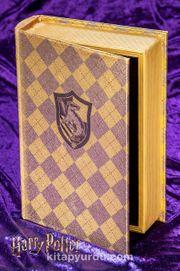 Yaldızlı Ahşap Kutu - Hufflepuff (BK-HP006) Lisanslı Ürün