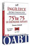 2020 ÖABT İngilizce Öğretmenliği 75'te 75 Tamamı Çözümlü 10 Deneme Sınavı