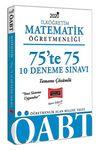 2020 ÖABT İlköğretim Matematik Öğretmenliği 75'te 75 Tamamı Çözümlü 10 Deneme Sınavı