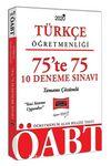 2020 ÖABT Türkçe Öğretmenliği 75'te 75 Tamamı Çözümlü 10 Deneme Sınavı