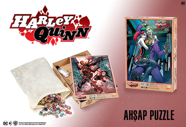 Harley Quinn Ahşap Puzzle