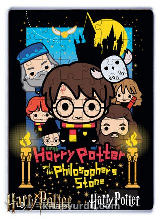 Harry Potter - Philosopher's Stone Ahşap Puzzle  54 Parça (KOP-HP084 - LIV) Lisanslı Ürün