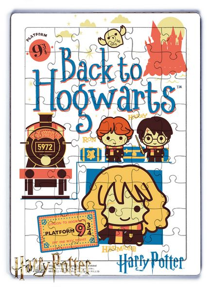 Harry Potter - Back to Hogwarts Ahşap Puzzle  54 Parça (KOP-HP083 - LIV) Lisanslı Ürün
