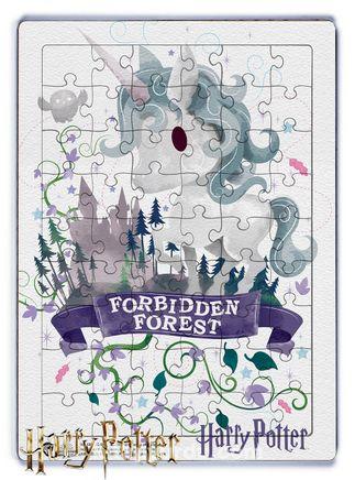Harry Potter - Forebidden Forest Ahşap Puzzle  54 Parça (KOP-HP081 - LIV) Lisanslı Ürün