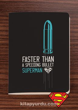Superman - Faster Than a Speeding Bullet - Dokun Hisset Serisi (AD-SM002) Lisanslı Ürün   (Cep Boy) Lisanslı Ürün