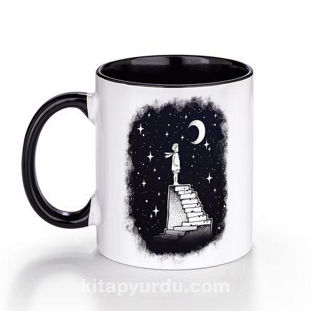 Porselen Kupa - Küçük Prens - Stair to Moon