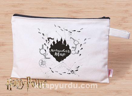 Harry Potter - Marauder's Map - Canvas El Çantası (BK-HP016) Lisanslı Ürün