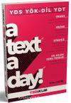 YDS YÖK-DİL YDT A Text A Day Okuma-Kelime-Strateji-Dil Bilgisi Konu Tekrarı