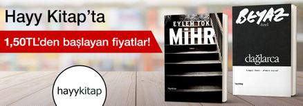 Hayy Kitap'ta 1,50 TL'den Başlayan Fiyatlar Kampanyası