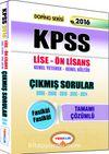 2016 KPSS Lise-Ön Lisans Genel Yetenek Genel Kültür Çıkmış Sorular Tamamı Çözümlü (Fasikül Fasikül)