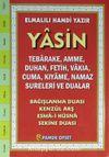 Yasin Türkçe Okunuşlu - Fihristli - Orta Boy (Kod:213)
