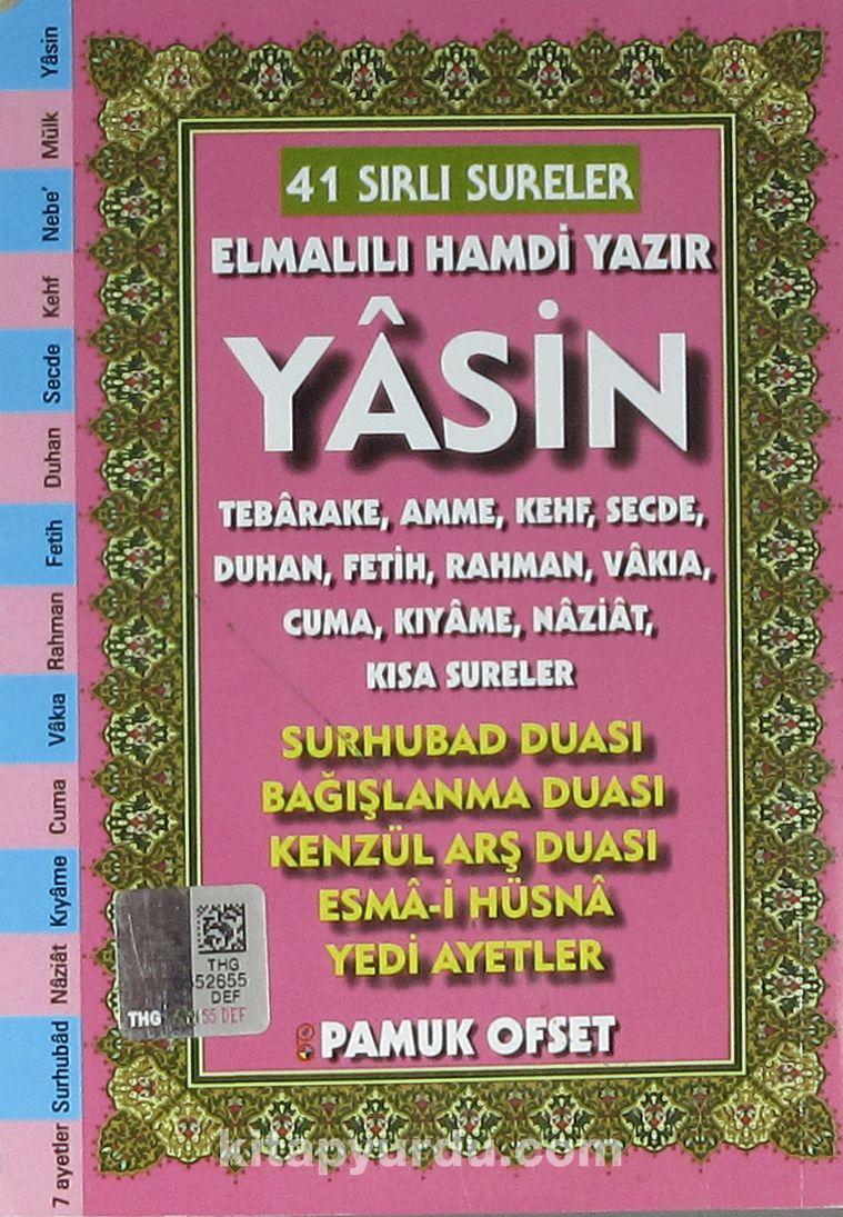 41 Yasin Türkçe Okunuşlu ve Açıklamalı - Fihristli (Cep Boy) (Kod:Yas-208)