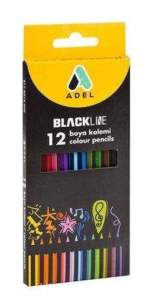 Adel Blackline Boya Kalemi 12 Renk, Tam Boy(2112312)