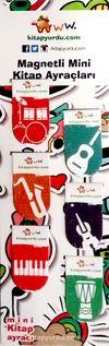 Magnetli Mini Kitap Ayraçları / Müzik Temalı