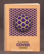 Bookinzi Okul Defteri (Taslamalı) 80gr. 70 yaprak A4 Çizgili - İllüzyon Serisi - 05