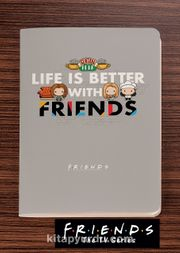 Friends - Life is Better With Friends - Dokun Hisset Serisi (AD-FR004) Lisanslı Ürün (Cep Boy) Lisanslı Ürün