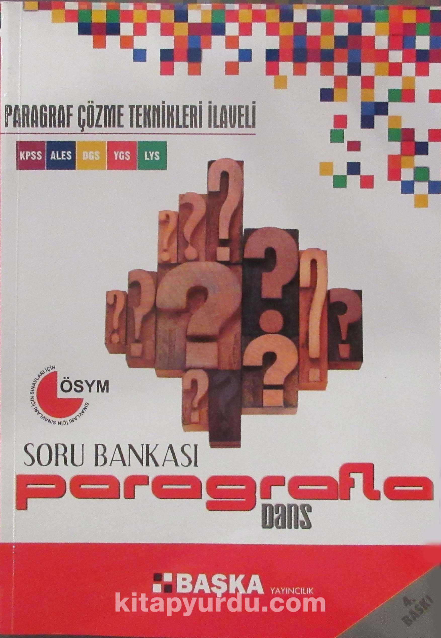 KPSS - ALES - DGS - YGS - LYS Soru Bankası Paragrafla Dans - Kollektif pdf epub