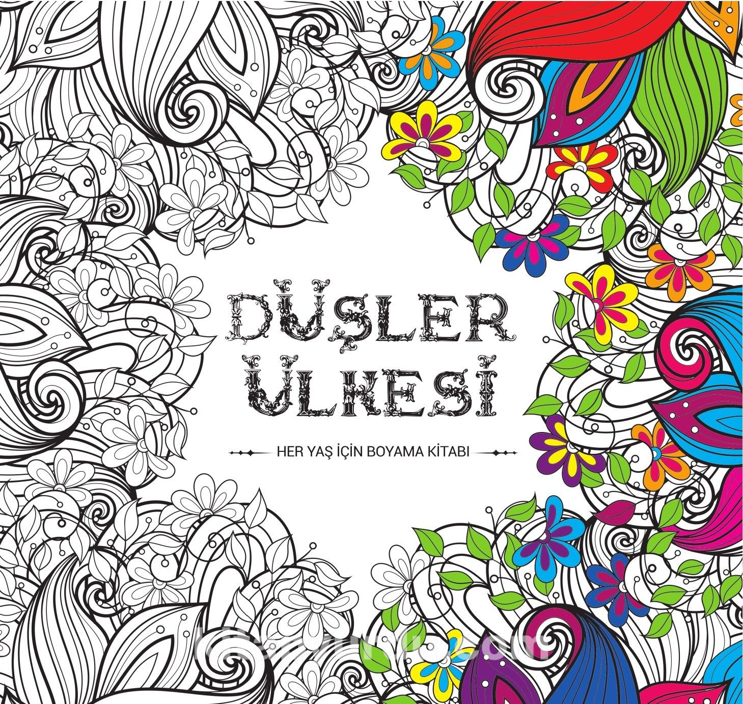 Düşler ülkesi Her Yaş Için Boyama Kitabı Mehmet Bozkurt