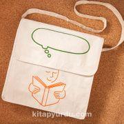 Kitapyurdu Postacı Bez Çanta (Konuşma Balonu Desenli)