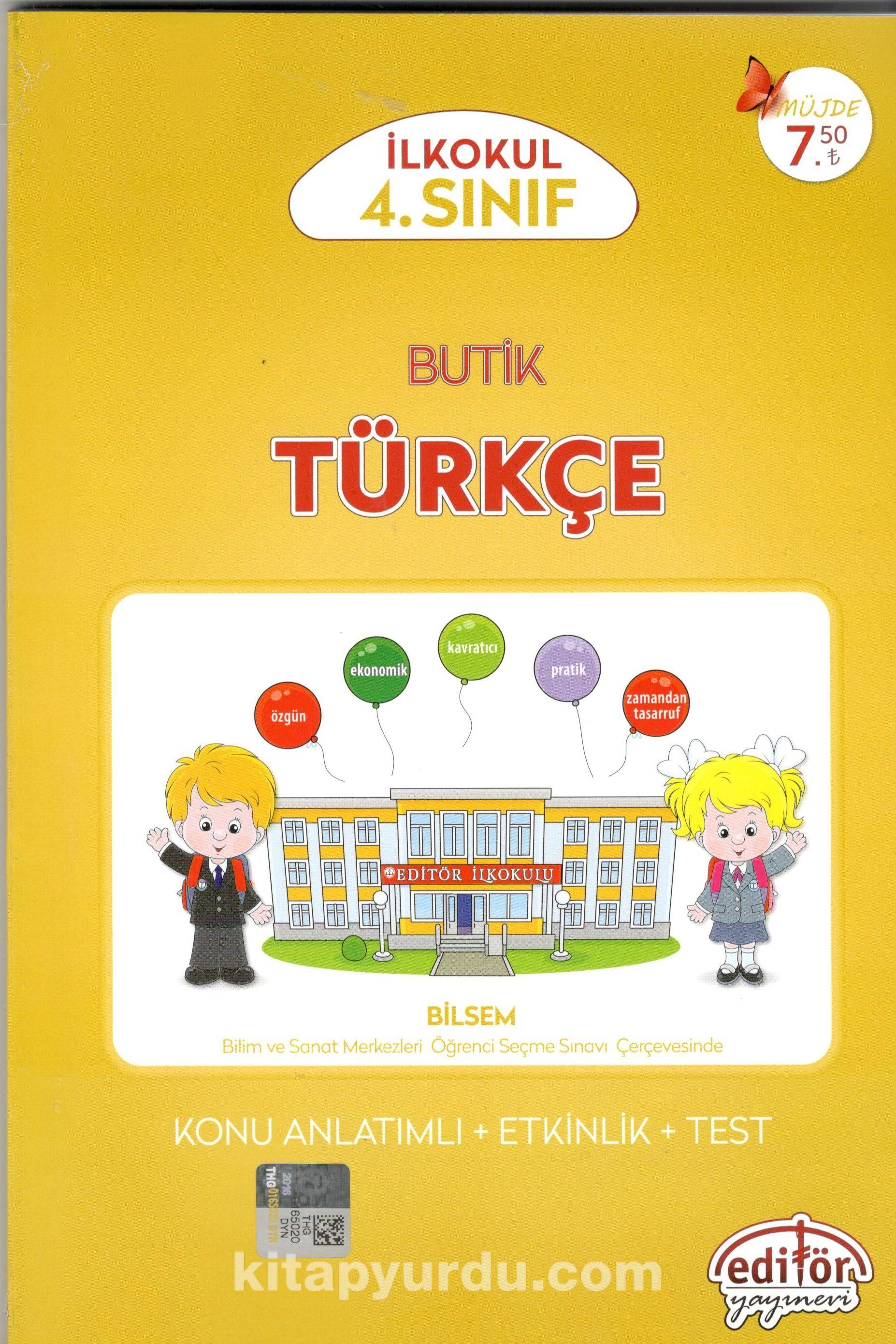 4. Sınıf Butik Türkçe Konu Anlatımlı
