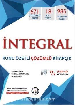 Matematik İntegral Konu Özetli Çözümlü Kitapçık