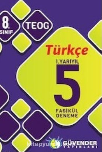 8. Sınıf TEOG Türkçe 1. Yarıyıl 5 Fasikül Deneme - Kollektif pdf epub