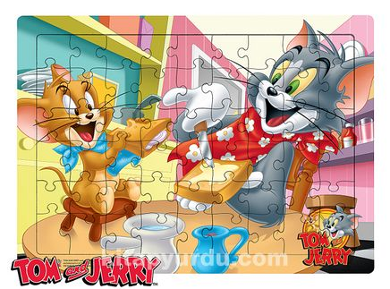 Tom and Jerry - Breakfast Ahşap Puzzle 54 Parça (KOP-TJ169 - LIV) Lisanslı Ürün
