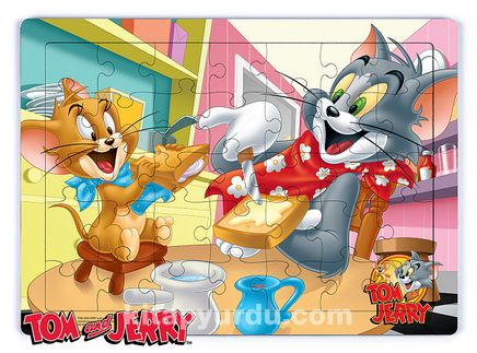 Tom and Jerry - Breakfast Ahşap Puzzle 35 Parça (KOP-TJ163 - XXXV) Lisanslı Ürün