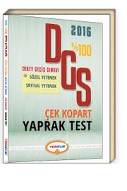 2016 %100 DGS Çek Kopart Yaprak Test