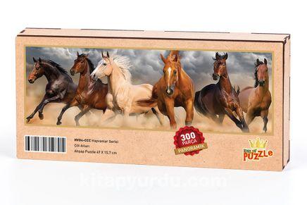 Çöl Atları Ahşap Puzzle 300 Parça (HV04-CCC)