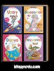 Eğitici Eğlendirici Çıkartma Kitabı Serisi (4 Kitap)