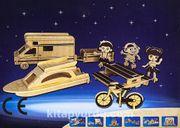 Montessori Ahşap Zeka Oyunları / w-3D Puzzle - Construction Kit