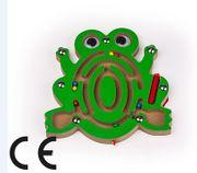 Montessori Ahşap Zeka Oyunları / w-Frog Maze