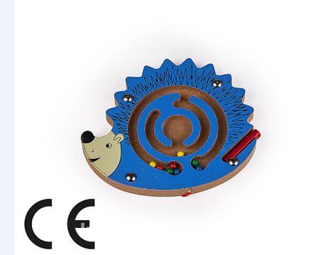 Montessori Ahşap Zeka Oyunları / w-Hedgehog Maze