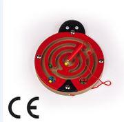 Montessori Ahşap Zeka Oyunları/ w-Ladybug Maze