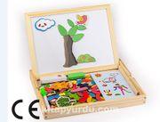 Montessori Ahşap Zeka Oyunları / w-Magnetic World 2