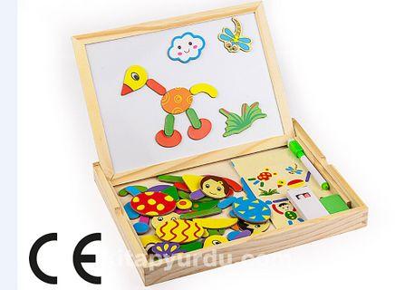 Montessori Ahşap Zeka Oyunları / w-Magnetic World 1