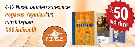 4-12 Nisan tarihleri süresince Pegasus Yayınları'nın tüm kitapları %50 indirimli!