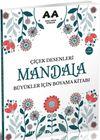Mandala Çiçek Desenleri Büyükler İçin Boyama Kitabı
