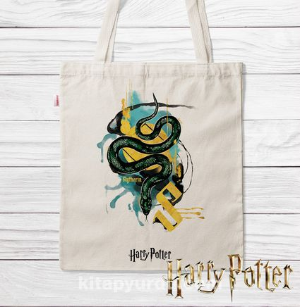 Askılı Bez Çanta - Harry Potter - Slytherin (BK-HP143) Lisanslı Ürün