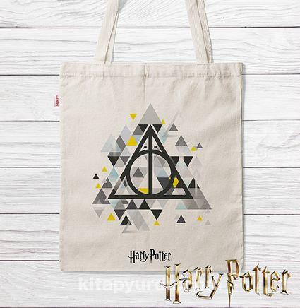 Askılı Bez Çanta - Harry Potter - Geometric Deathly Hallows Symbol (BK-HP138) Lisanslı Ürün