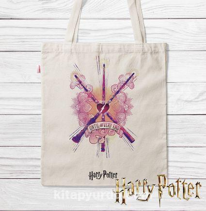 Askılı Bez Çanta - Harry Potter - Wands (BK-HP136) Lisanslı Ürün