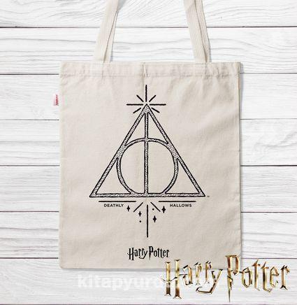 Askılı Bez Çanta - Harry Potter - Deathly Hallows (BK-HP125) Lisanslı Ürün