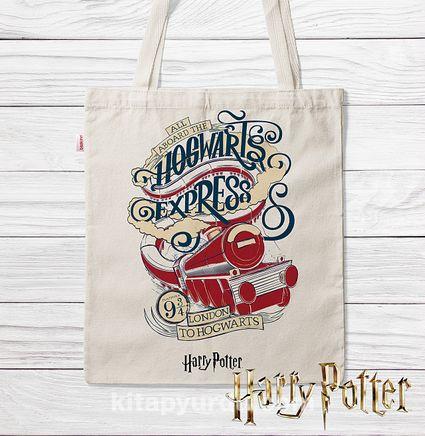 Askılı Bez Çanta - Harry Potter - Hogwarts Express (BK-HP122) Lisanslı Ürün