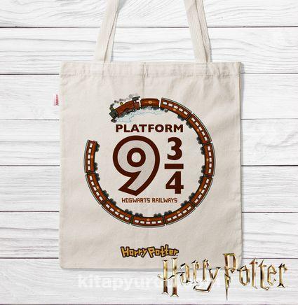 Askılı Bez Çanta - Harry Potter - Platform  (BK-HP119) Lisanslı Ürün